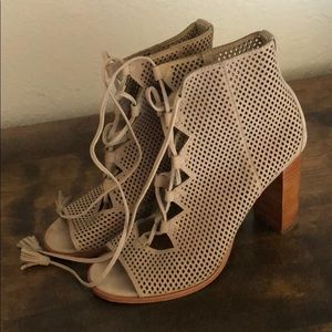 Frye Lace Up Netted Booties